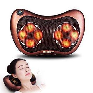Preisvergleich Produktbild Nackenkissen Massagegerät mit wohltuender Wärme–Tief Kneten Technologie bietet maximalen Komfort und Entspannung