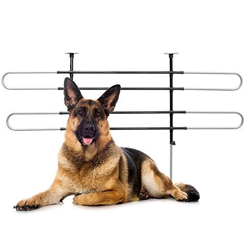 BAKAJI Divisorio Auto per Trasporto Cani Separatore di Sicurezza Portabagagli Griglia in Acciaio Inox Universale Regolabile