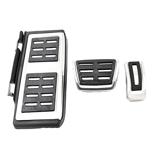3 Teile/satz Auto Clutch Bremsbeschleuniger Pedal (AT) Fußstütze Pad Abdeckungen Für VW Golf 7 MK7 GTI Skoda Octavia A7 Rapid 11-16 Audi A3 2014 (Auto-teile Kundenspezifische)