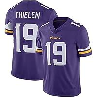 ZJFSL Camiseta de fútbol de la NFL Minnesota Vikings 19# Fan Edition Bordado Fútbol Ropa Deportiva Camiseta de Manga Corta Camiseta Deportiva Superior,purple-19,S
