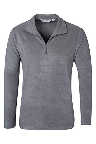 Parallel felpa giacca di pile uomo cerniera manica lunga grigio scuro l