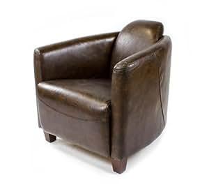 Echtleder Vintage Sessel Ledersessel Braun Design Lounge
