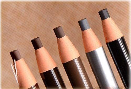 Nalmatoionme Portable étanche crayon à sourcils pour Microblading Peel Off Cordon de tirage (Noir)