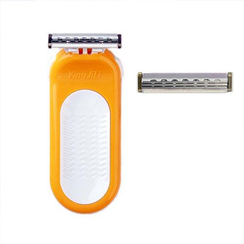 qshave Athena Damen Rasiermesser kompatibel mit Frauen Sensor (1Griff + 2Patronen)