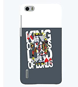 printtech Kings Back Case Cover for Huawei Honor 6
