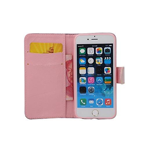 """MOONCASE iPhone 6 Case Coque en Cuir Portefeuille Étui de protection à rabat Case pour iPhone 6 (4.7"""") -ZD07 ZD04"""