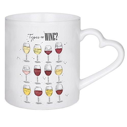 Becher Classic White Wine (artboxONE Herztasse