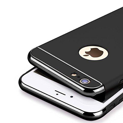 iPhone 6s Plus, 6 Plus Hülle, Conie Rückschale Hardcase Hybrid Schutzhülle Backcover Schlanke Handyhülle in Gold Schwarz