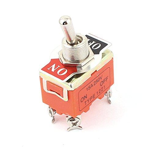 sourcingmap® AC 250V 15A 4 Klemmen EIN/AUS DPST Miniatur Kippschalter (Miniatur-dc-motor)