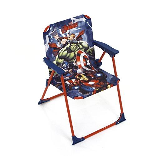 Arditex Silla Plegable para niños bajo Licencia Avengers en Metal Dimensiones: 38x 32x 53cm, Tela, 38x 32x 53cm