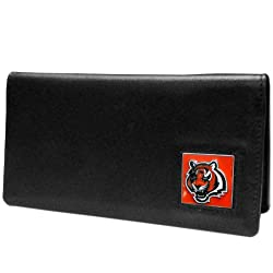 NFL Cincinnati Bengals Leather Checkbook Cover