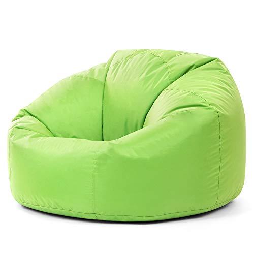 Bean Bag Bazaar® à Panneaux XL Pouf Intérieur/extérieur Citron Vert – Extra Large étanche Sacs de Haricots