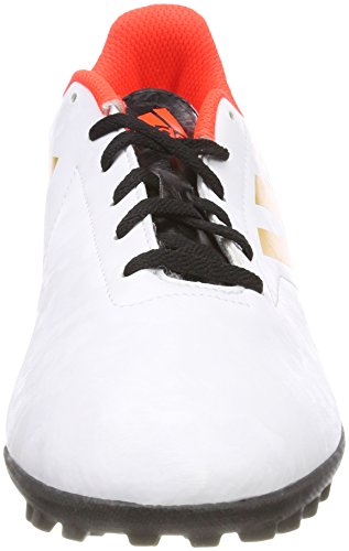 adidas Conquisto II TF, Chaussures de Running Homme Blanc Cassé (Ftwr White/tactile Gold Met. F17/solar Red)