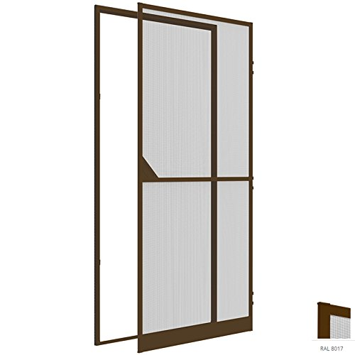 Pro-line Hardware (easy life Insektenschutz Tür 120 x 240 cm braun proLINE MR15 XL Tür mit Klemmzarge - weitere Farben verfügbar)