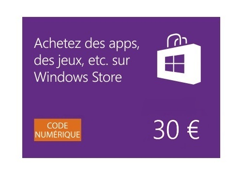 Windows Store - Carte Cadeau de 30 EUR [Code Digital - Windows Store] [Code Jeu ]