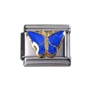 Italian Charms Modul Schmetterling blau …by Kult-Schmuck