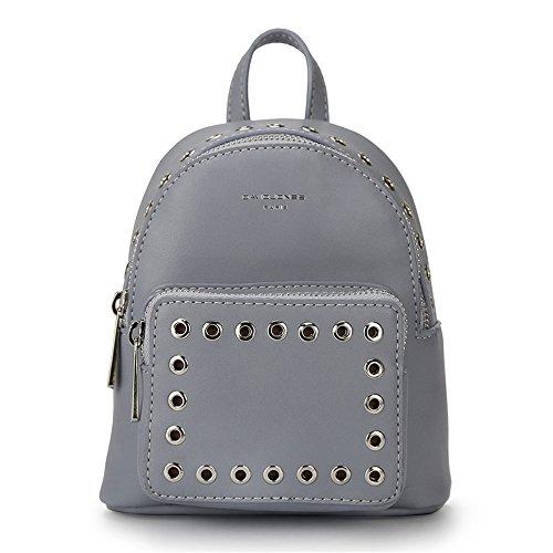 Otomoll Mini Frauen Rucksäcke Pu Leder Weibliche Schule Umhängetaschen Teenage Girls College Student Casual Bag Handtasche