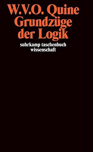 Grundzüge der Logik (suhrkamp taschenbuch wissenschaft)