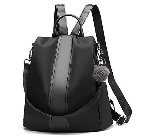 Zaino per il tempo libero borsa di moda casual da scuola schoolbag zaino da viaggio borsa in poliuretano tessuto oxford per ragazze donne ladies studenti (nero)