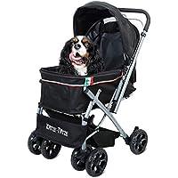 Cochecito para Mascotas Trolley para Perros, Cochecito De Viaje Multifuncional Dog Pram Pet con 6
