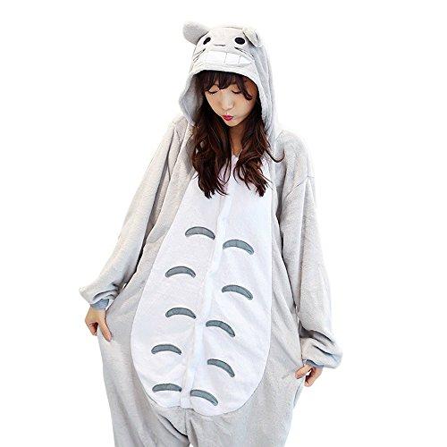 Combinaison pour adulte Totoro Kigurumi Pyjama Animé Cosplay Halloween (L height 168cm-178cm …)