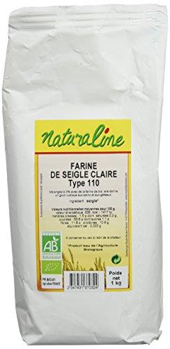 Moulin des Moines Farine Bio Seigle Claire Extraction 85% Type 110 1 kg - Lot de 5