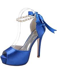 MEI&S Boca de Pescado la mujer Stiletto boca superficial Prom boda zapatos de tacones altos tribunales bombas
