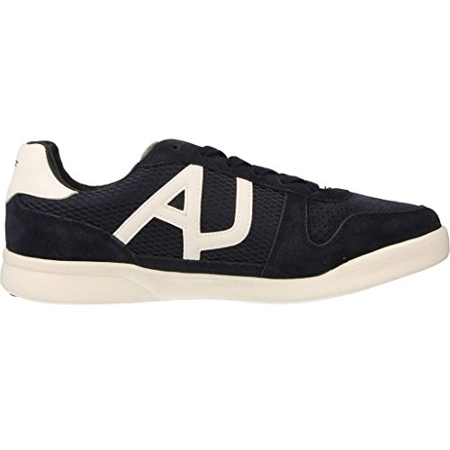 In Scamosciata Sneakers Uomo Blu Pelle Armani Jeans Sneakers Scarpe Ywq8nES