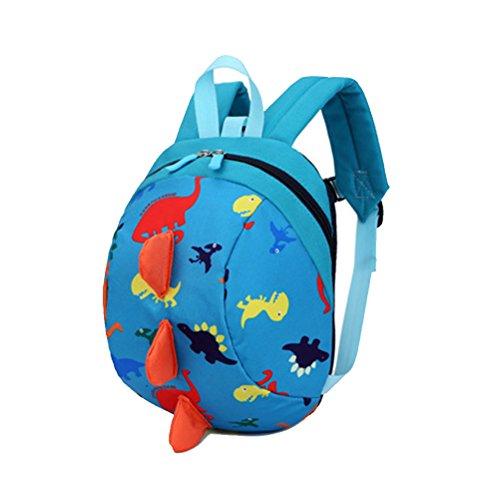 Cartoon Kleinkind Baby Harness Rucksack, Yimoji Leine Sicherheit Anti-verloren Rucksack, Strap Walker Dinosaurier Rucksack für Baby Mädchen und Jungen, blau
