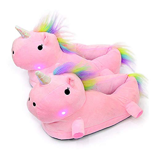 Plush Light up Slippers Novelty Comfort Animal Foot Warmers-ONE Size