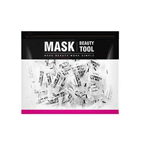 100pcs soie bricolage économiseurs d'eau papier visage comprimé Masque jetable Masque Feuille Comprimés Soins de la peau du visage