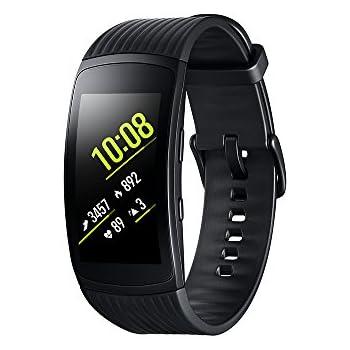 Modelabs Samsung Gear Fit 2 Pro - Seguidor de Actividad con Monitor de Ritmo cardiaco, Talla Small, Negro [Versión importada: Podría presentar ...