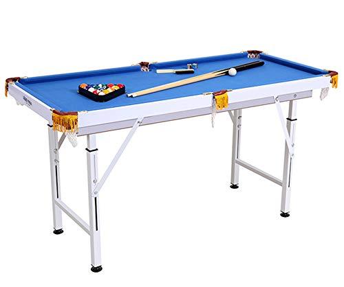 Billard Table Falten Type Pool Tisch Steady Modernes Space Sparen Billard Table Game für Kinder und Erwachsene mit Cues, Ball, Chalk, Rack, Pinsel Inklusive Blau