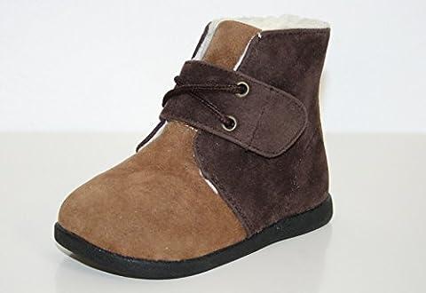 Little blue lamb chaussures bottes fourrées marron/beige - Marron - Marron, 24