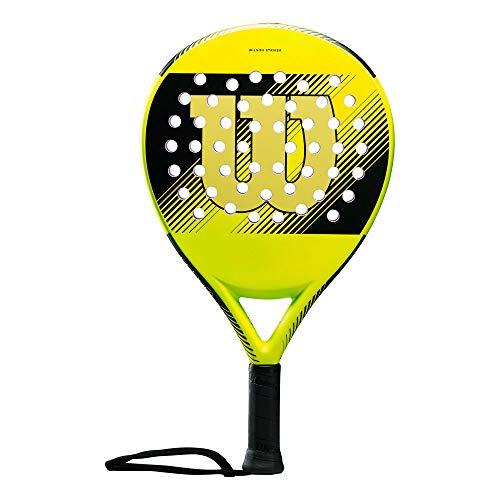 Wilson Padel-Schläger, Striker, Unisex, gelb, EVA-Kern/Fiberglas, 370 Gramm, Auch für Beach-Tennis geeignet, WRT97090U