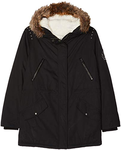 IKKS Junior Parka Noire Way, Blouson Fille, 2, Small (Taille Fabricant: S)
