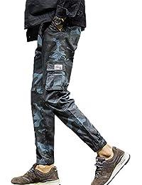 e1046558b5a24 LIN Hommes Liquidation Mode Casual Camouflage Poche Neuf Points Petits  Pieds Pantalon Lâche Fitness