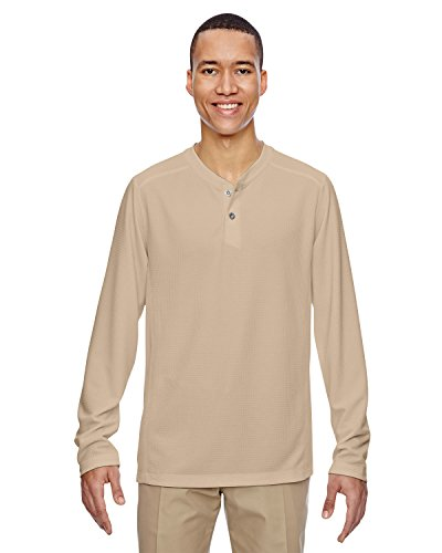 Men's Excursion Nomad Performance Waffle Henley STONE 019 5XL -
