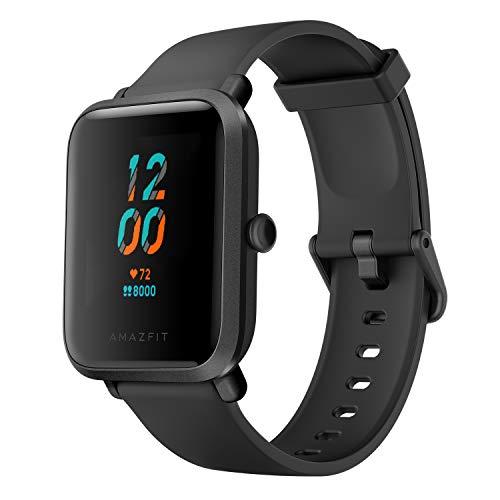 Oferta de Amazfit Bip S Smartwatch 5ATM GPS GLONASS -Reloj inteligente con bluetooth y conectividad con Android e iOS - Version Global (Negro)