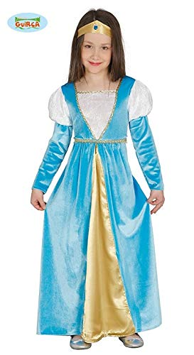 Guirca Mittelalterliches samtiges Edles Prinzessin Kleid Mädchenkleid Märchenkostüm Kostüm Gr 110-146 , Größe:134/140
