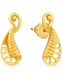 Malabar Gold & Diamonds 22k (916) Yellow Gold Stud Earrings