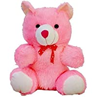 Long Huge Loveable HUGABLE PLAYABLE Soft Teddy Bear Best for Someone Really Special Pink (Small)