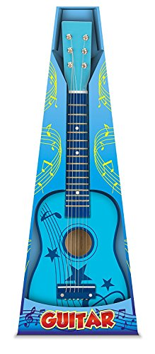 Toyrific Guitarra de madera, 60 cm, color azul