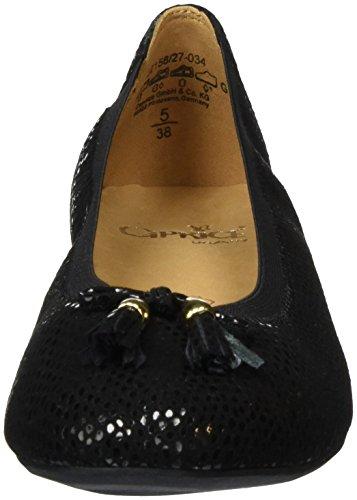 Caprice 22158, Ballerine Donna Nero (BLACK SUE REPT 034)