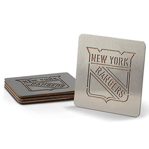 Sportula NHL New York Rangers boasters, schwere Edelstahl Stahl Untersetzer, 4Stück Rangers-laser