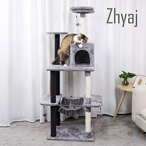 Zhyaj Katzenkratzbaum Stabil Haus Höhe 175Cm Kratzbaum Und Türme Haustierspiel, Das Turm Spielt Eigentumswohnung Möbel Für Katze (Katze-häuser & Eigentumswohnungen)