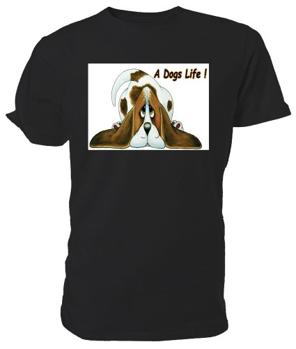 Basset-hound-shirt (Cartoon Basset Hound T Shirt, A Dog 's Life)