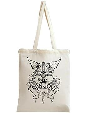Bon Jovi Heart Design Benutzerdefinierte Gedruckt Tasche Einkaufstasche Tragetasche