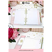 60 Planners - 30 Pages, A5 Notes Planner Refill, to do Lists, Notes Pages, Day Organizer, Meeting Notes, Printed Planner Inserts, Daily Planner Inserts