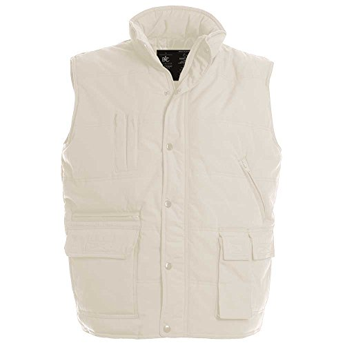 B&C Mens Explorer Multifunctional water resistant bodywarmer Beige